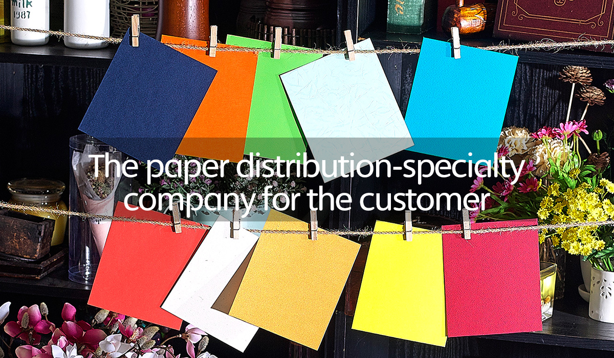 The paper distribution-specialty company for the customer
